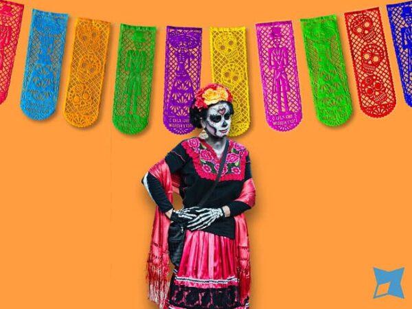 Papel Picado - Día de Muertos Catrines Elegantes